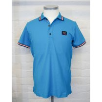 PAUL & SHARK Cotton Turquoise Slim Fit Pique Polo Shirt