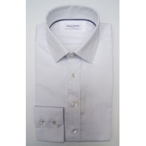 WITHOUT PREJUDICE Mens White Cotton Two Buttoned Collar Long Sleeved Shirt