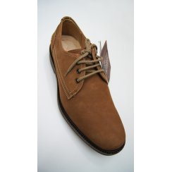 Mens Laced Leather Uppers Sheepskin Cushioned Nubuck Shoe