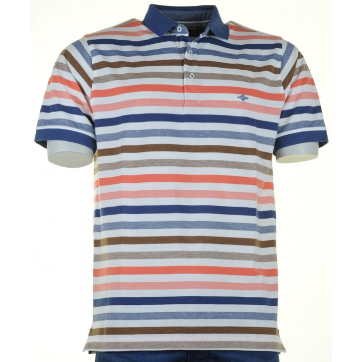 BAILEYS Cotton Striped Pique Polo