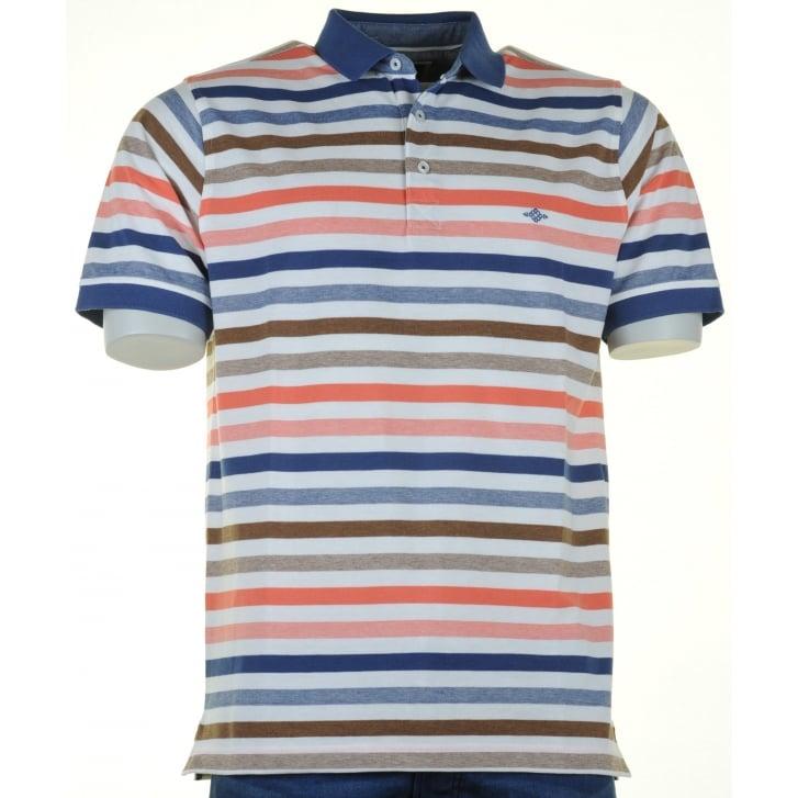 BAILEYS Cotton Striped Pique Polo