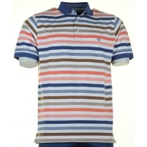 Cotton Striped Pique Polo