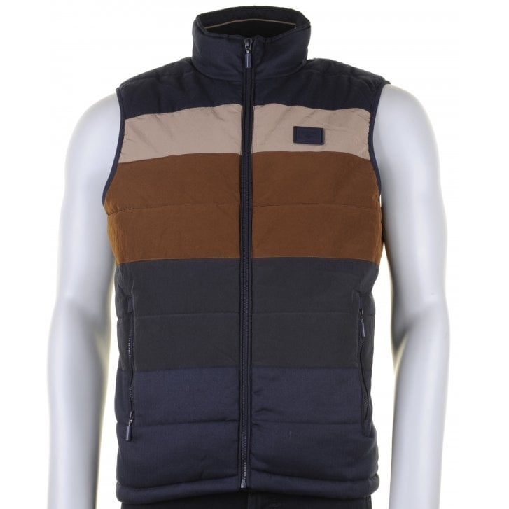 BAILEYS Navy and Tan Padded Gilet