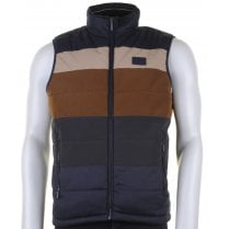 Navy and Tan Padded Gilet