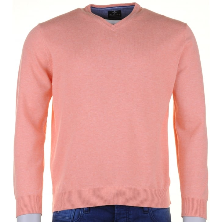 BAILEYS Pima Cotton V Neck Sweater
