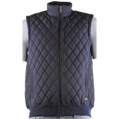 Quilted Body Warmer with Cloth Back and Side Pockets
