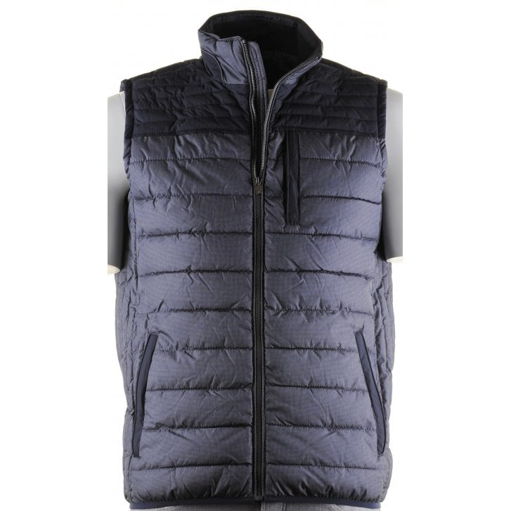 BAILEYS Quilted Body Warmer withThree Outside Zip Pockets