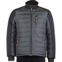 Quilted Jacket with Three Outside Zip Pockets