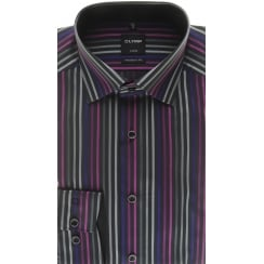 Black Striped Luxor Cotton Shirt