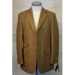 Brown Tweed Slanting Pockets Hacking Jacket