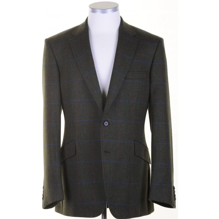 BLADEN Green Tweed Tailored Sports Jacket