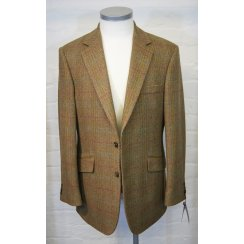 Mens Brown Herringbone Tailored Tweed Jacket