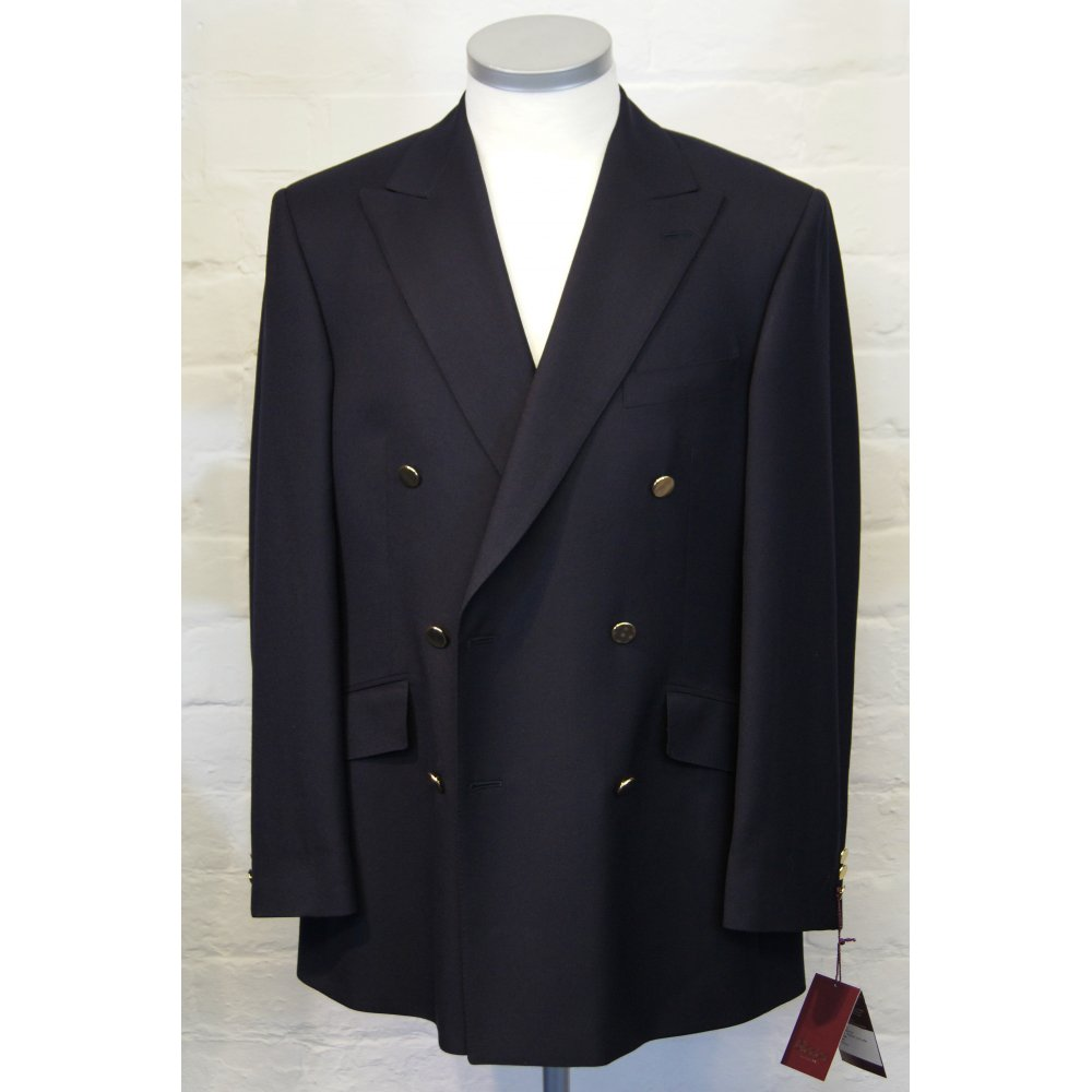 BLADEN Mens Double Breasted Button Pure Wool Blazer ...
