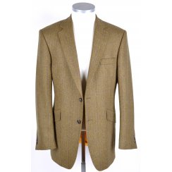 Mens Quality Wool Tweed Tailored Jacket