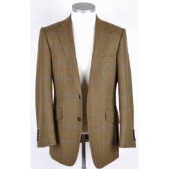 Mens Quality Wool Tweed Tailored Jacket