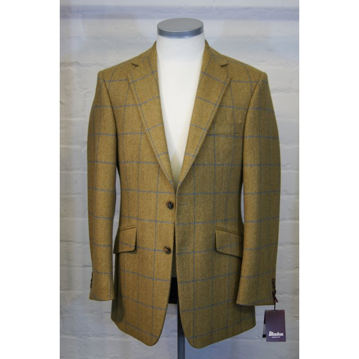 BLADEN Mens Tailored Two Button Check Tweed Jacket