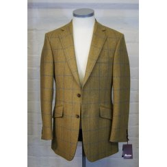 Mens Tailored Two Button Check Tweed Jacket