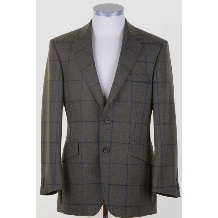 BLADEN Supasax Lite Tweed Tailored Jacket with Overcheck