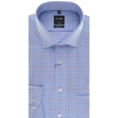 Blue Check Non Iron Cotton Shirt