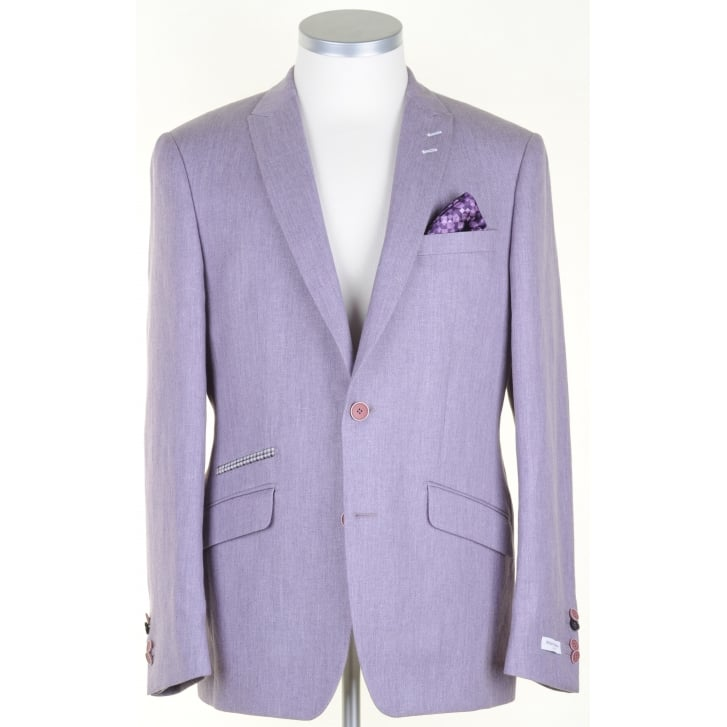 WITHOUT PREJUDICE Blue or Lilac Linen/Cotton/Wool mix Tailored Jacket
