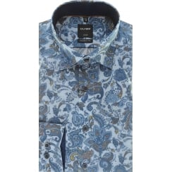 Blue Paisley Luxor Cotton Shirt
