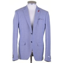 Blue Summer Cotton Tailored Jacket