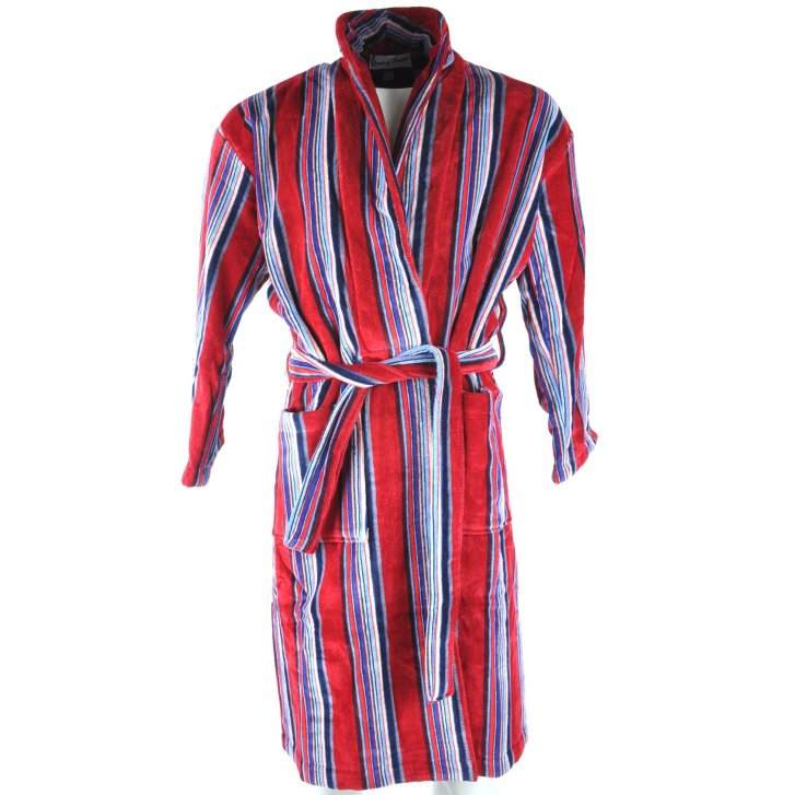 Bown Luxury Cotton Striped Dressing Gown form Armstrongs of Worcester