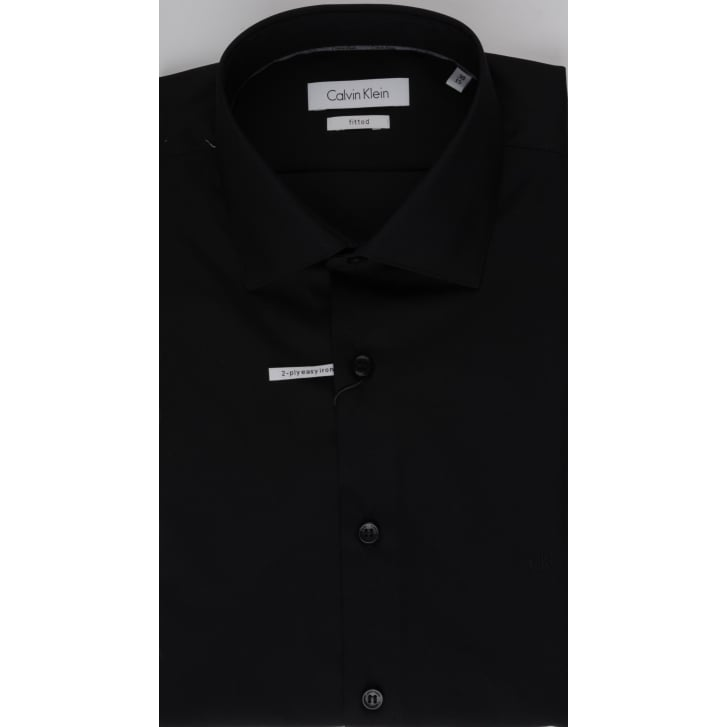 CALVIN KLEIN Cotton Fitted Shirt in White, Black, Navy or Blue