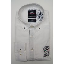 Mens Button Down Slim Casual Cotton White Shirt