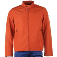 Aqua Tex Zipped Blouson in Orange