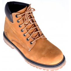 Suede Tan Boot with Padded Collar