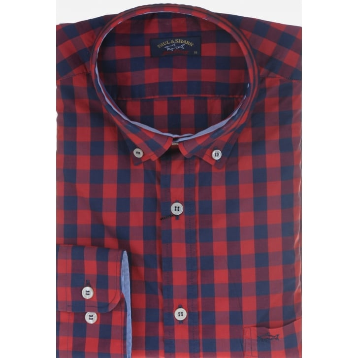 PAUL & SHARK Check Casual Cotton Shirt