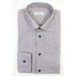 Cotton Brown Check Shirt in Tailored Fit