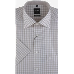 Cotton Gingham Short Sleeved Shirt