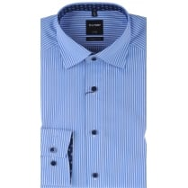 Cotton Stripe Shirt in Blue or Purple