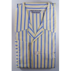 Mens Cotton Stripe Elasticated Waisted Pyjamas