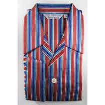 Mens Multi Stripe Cotton Tie Waist Pyjamas