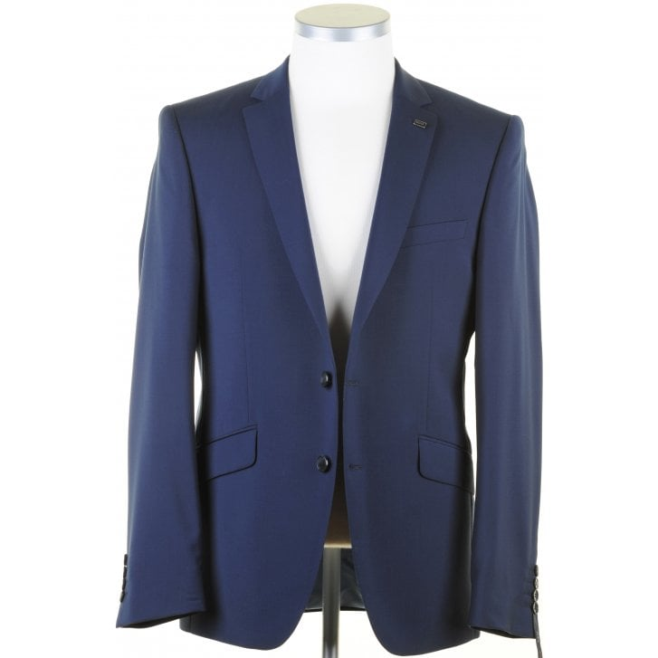 DIGEL Mens Two Piece Wool Single Breasted Tailored Suit