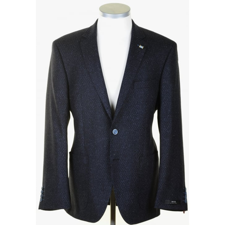 DIGEL Silk Mix Navy Flecked Sports Jacket