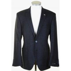 Silk Mix Navy Flecked Sports Jacket