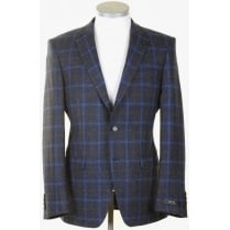 Stylish Navy Check Sports Jacket