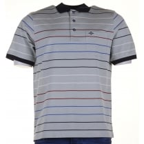 Egyptian Cotton Striped Polo Shirt