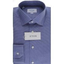 Blue Birdseye Cotton Tailored Shirt