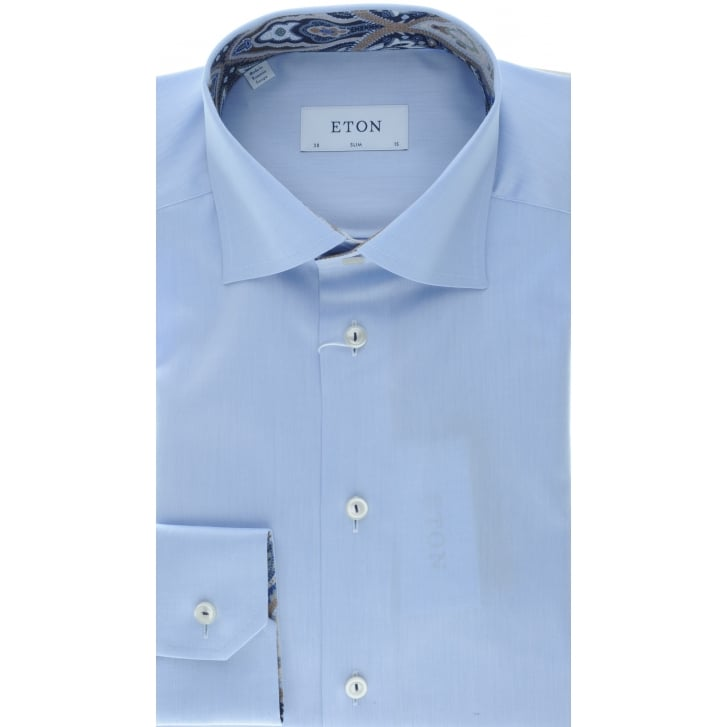 ETON Blue Cotton Shirt in a Slim Fit