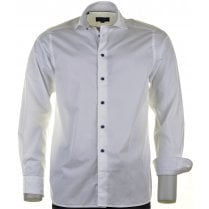 Cotton Casual White Shirt with a Soft Collar