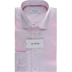 Cotton Pink Micro Square Tailored Fit Shirt