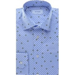 Cotton Spotted Shirt with Avocado Pear