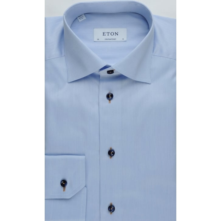 ETON Cotton Tailored Shirt with Contrasting Trim