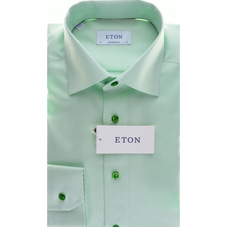ETON Cotton Twill Shirt in a Tailored fit in Blue or Green