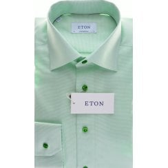 Cotton Twill Shirt in a Tailored fit in Blue or Green